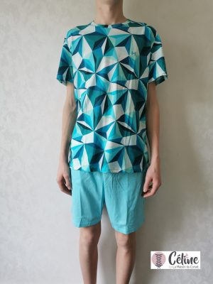Pyjashort Hom Diamant green