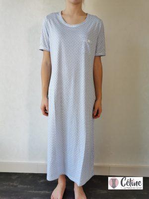 Chemise de nuit Ringella Pois bleu