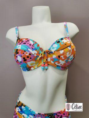 Haut de maillot de bain emboitant Prima Donna Swim Caribe funky vibe