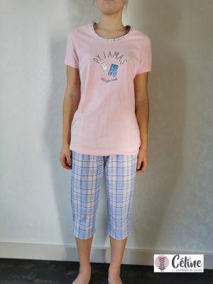 Pyjama corsaire Ringella Girly rose bleu