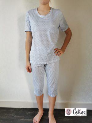 Pyjama corsaire Ringella Pois bleu