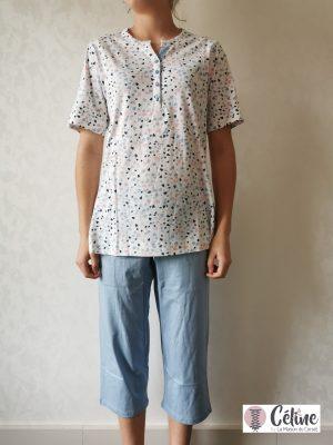 Pyjama pantacourt Pastunette Coeur multicolor