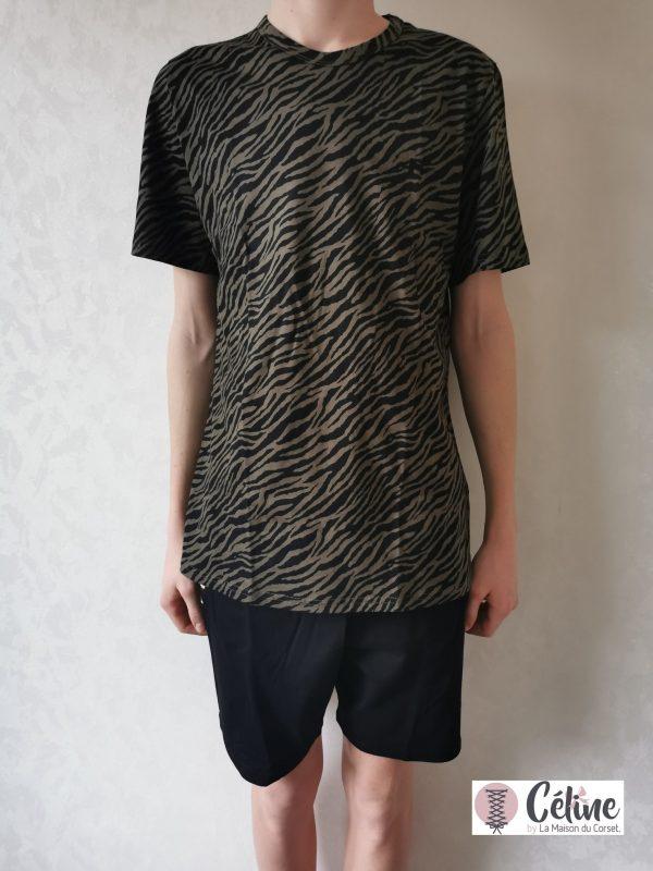 Pyjashort Hom Canaille kaki noir