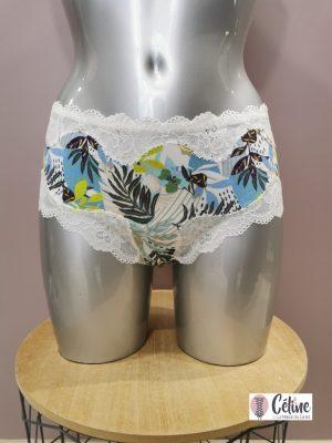 Shorty lingerie Antigel de Lise Charmel Fraicheur Tropic ciel tropic