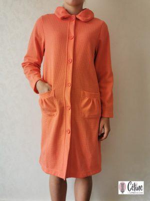Peignoir Pastunette boutonné orange