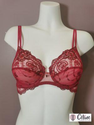 Soutien gorge emboitant Lise Charmel Tellement Glamour rouge rubis