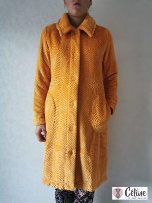 Robe de Chambre Pastunette courte boutonnée miel