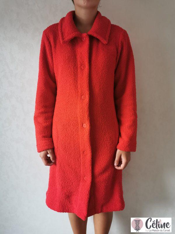 Robe de Chambre courte Pastunette boutonnée rouge